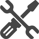 Screwdriver and wrench icon.